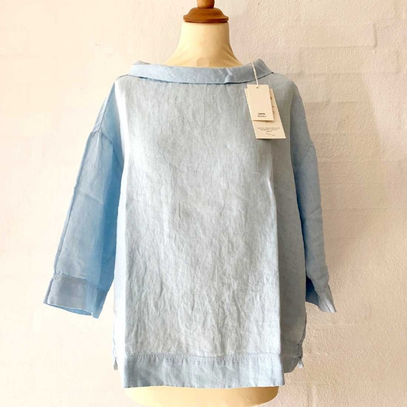 OWN 11001 - linen bluse sky