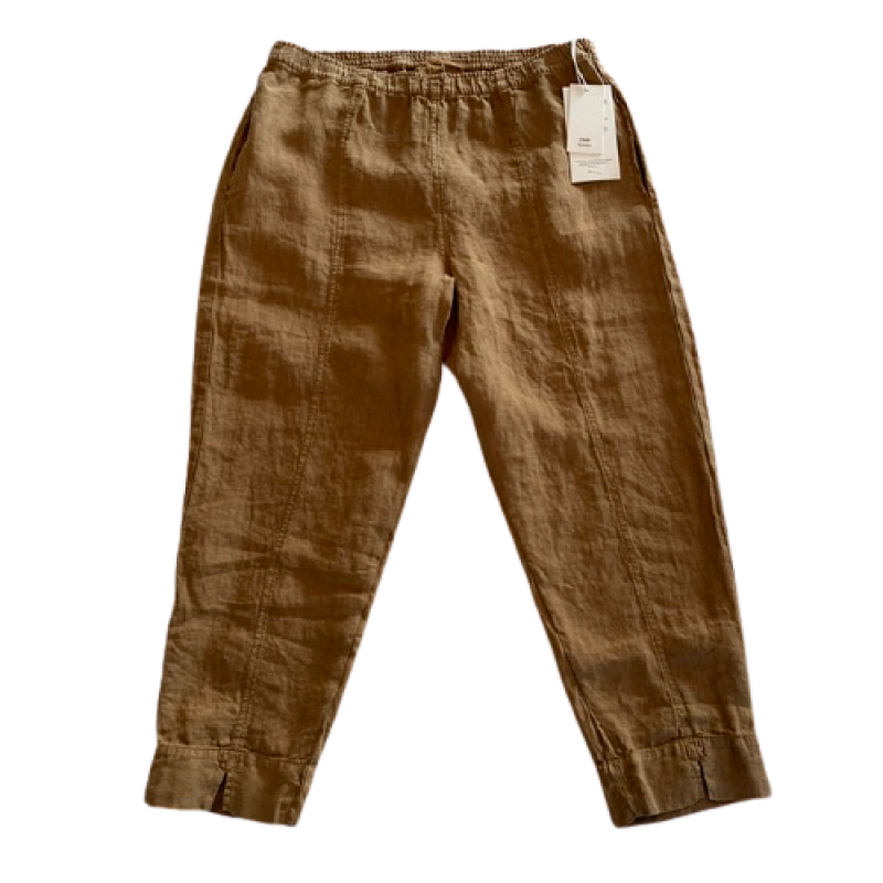 OWN 11003 linen buks med slids camel-01