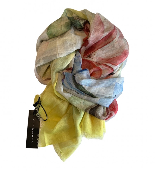 Aperitif Sjaler - Fleurie - tørklæde bomuld