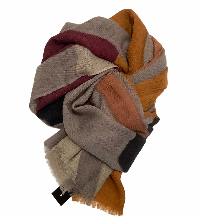 Aperitif Sjaler - plum okky - uld tørklæde