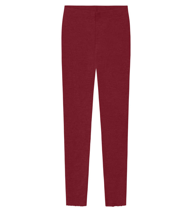 Blusbar 3001 - uld leggings - vinrød