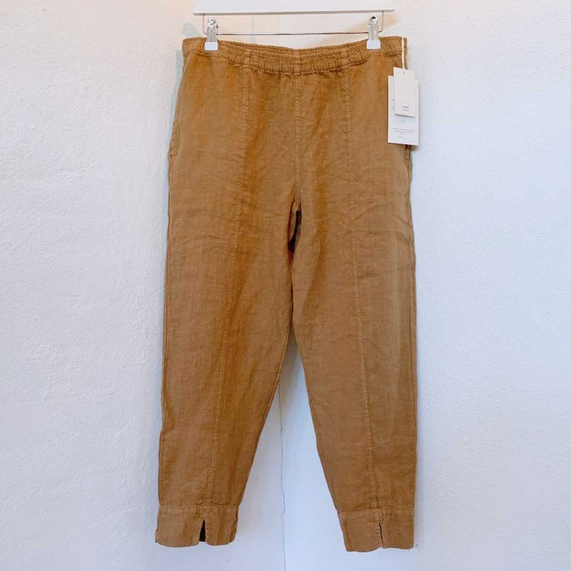 OWN 11003 - linen buks med slids - camel