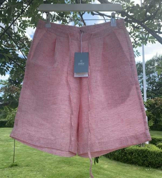 Linen by Krebs - ELLY hør shorts - red pin