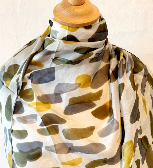 Aperitif Sjaler farvelade silke tørklæde-01