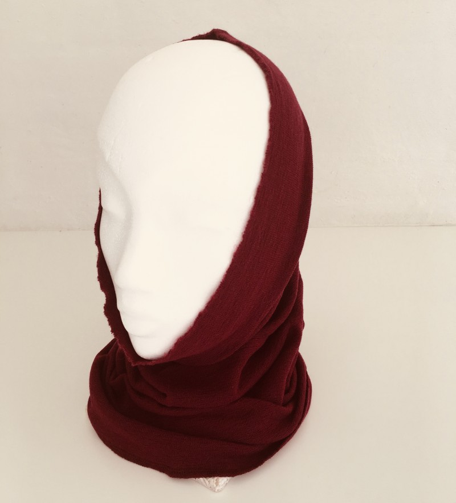 Blusbar 1012 - halsedisse - vinrød