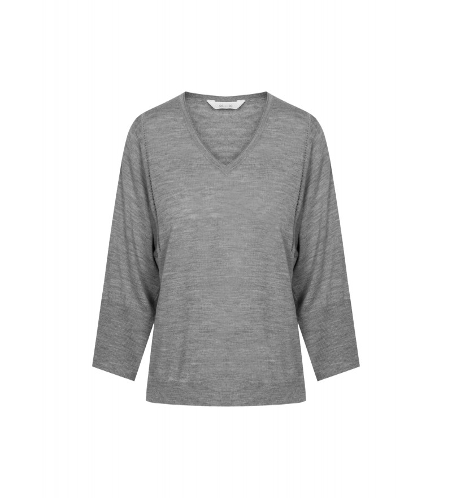 Gai + Lisva Tilde uld bluse - grey melange