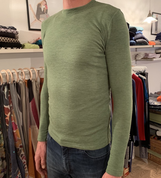 Blusbar 4015 uld trøje grasshopper green-01