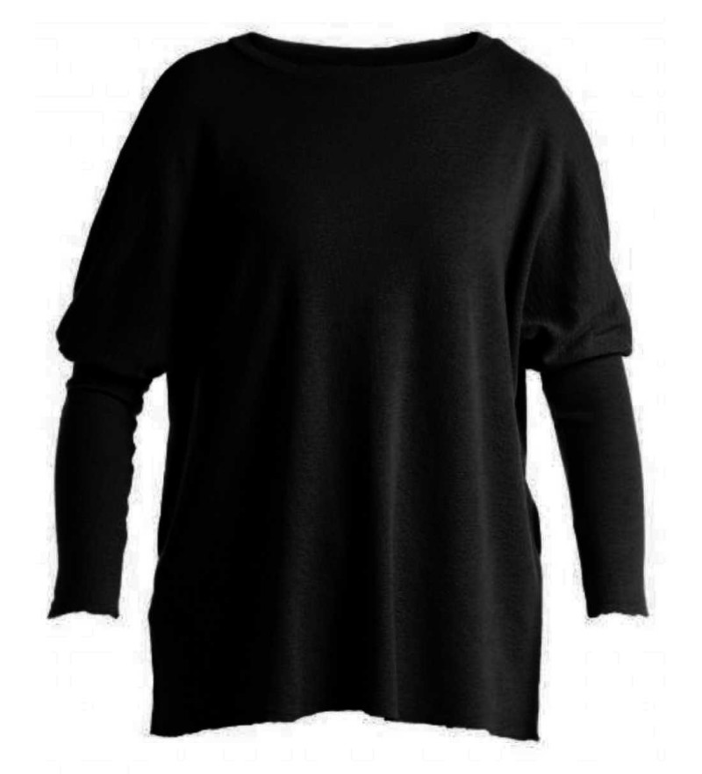 Blusbar 4011 - uld bluse - sort