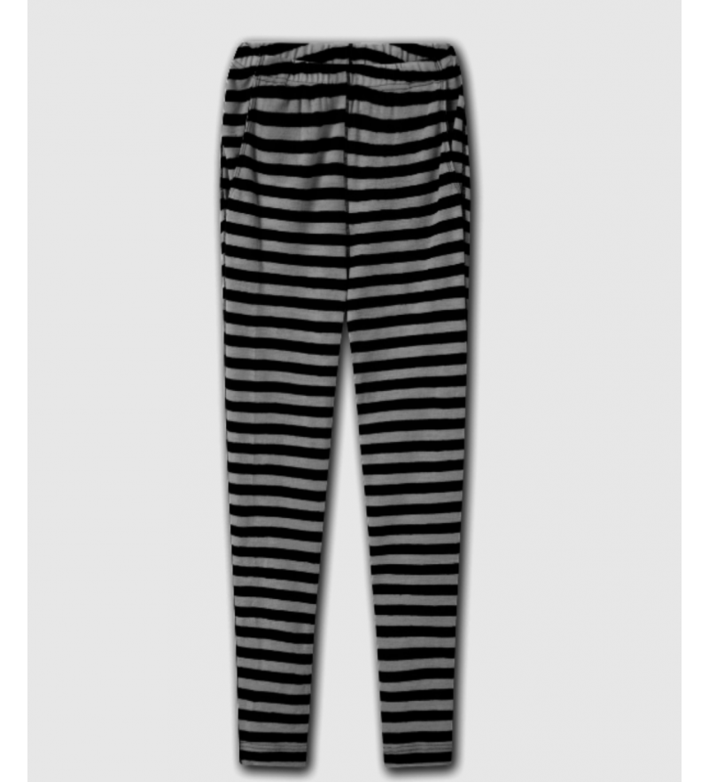 Blusbar 3006 - uld buks - grå strib (smal)