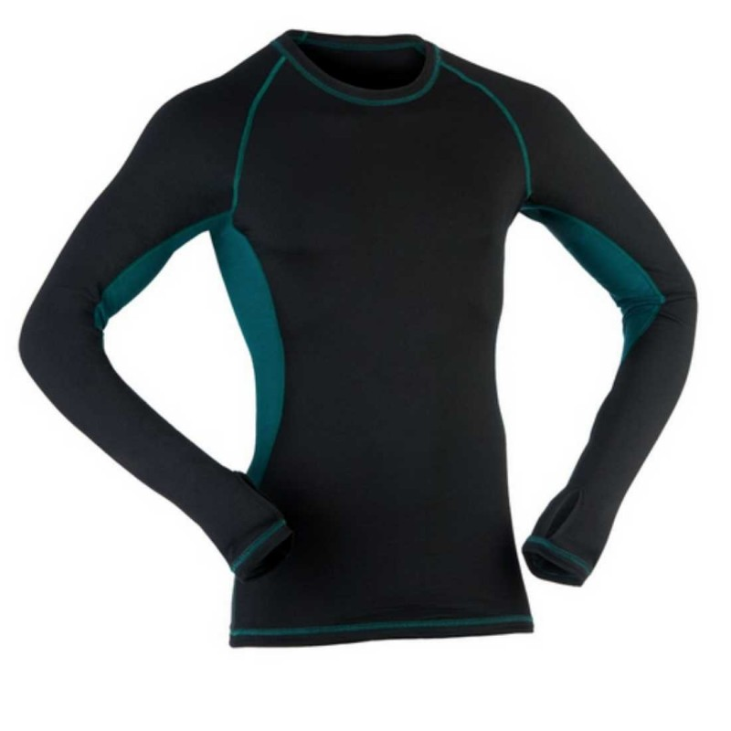 Engel Sports - merino undertrøje - sort/hydro