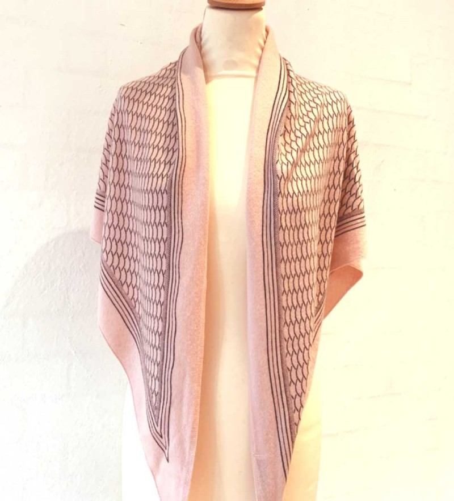 Gauge & Ply tørklæde - Gaia - rose