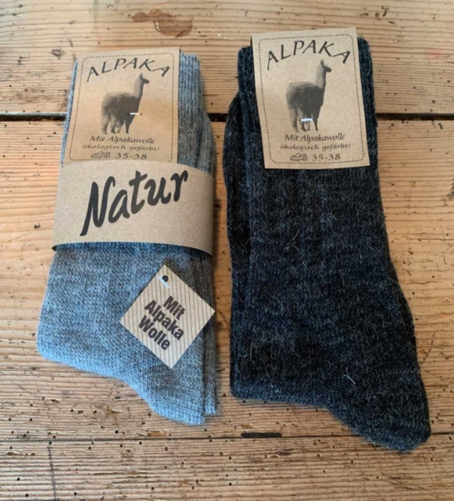 alpaca strømper 2 par grå/koks-01