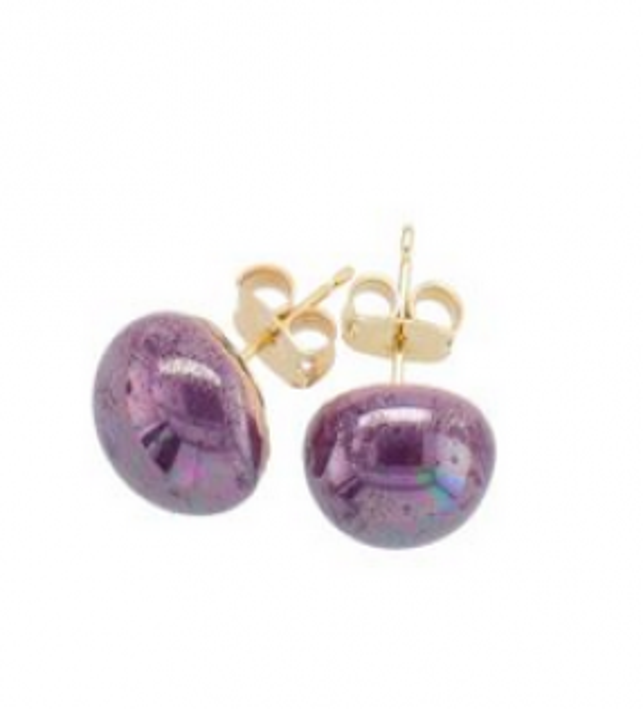 KAZURi ørestik violet perlemor-20