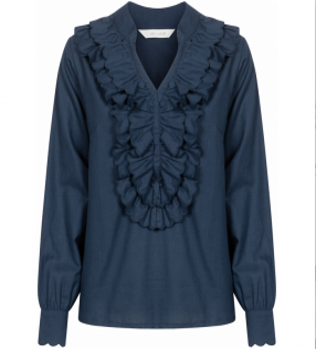 Gai+Lisva Felicia skjorte Dark Sapphire Navy-20