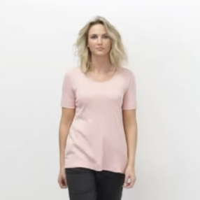 cotton sense 4303 damebluse rosa-20
