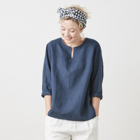 Linen by Krebs Emma navy