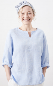 Linen by Krebs Emma light blue