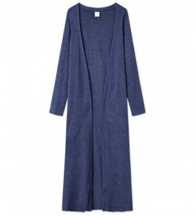 Blusbar 8008 uld cardigan indigo blå-20