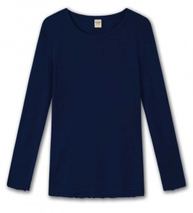 Blusbar 4002 uld bluse marine blå-20
