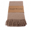 Simply Living - recycled uldplaid camel